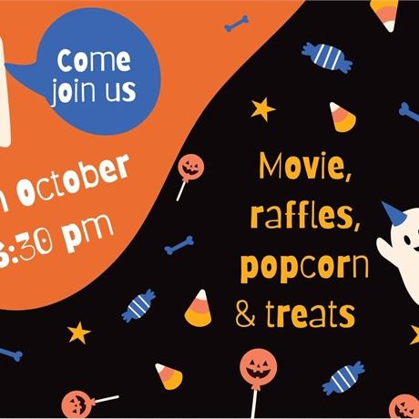 Halloween movie and snacks